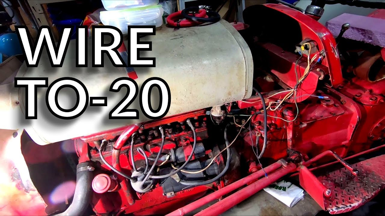 small resolution of ferguson to 20 12 volt wiring one youtubewiringfergison wiretractor to