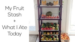 My Fruit Stash & What I ate today on a Raw Fruity Vegan Diet