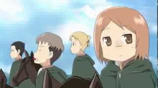Repeat youtube video Attack on Titan × Nichijou OP MAD