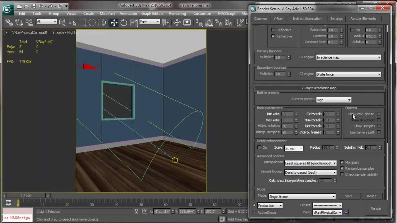 Iluminaci n de interiores vray tutorial 1 2 youtube - Iluminacion de interiores ...