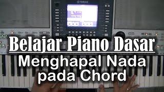 belajar piano dasar menghapal nada pada chord