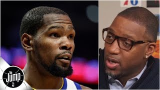 Kevin Durant media debate: Was he right to go off on reporter? | The Jump