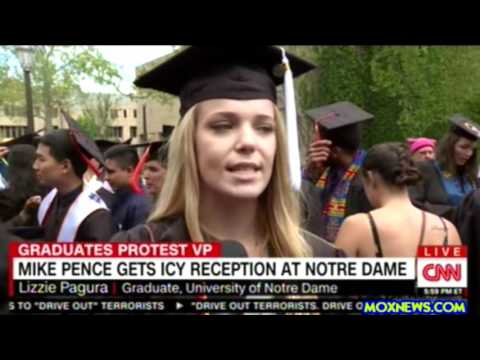Notre Dame Graduates Walk Out During Vice President Mike Pence Commencement Speech!