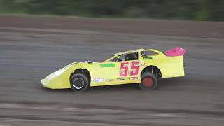 Late Model Heat Race #3 at Crystal Motor Speedway, Michigan on 06-22-2019!
