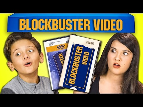 Kids react to blockbuster video youtube