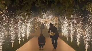Свадебная дорожка из сценических фонтанов