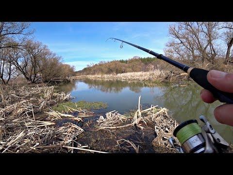 Щука На Спиннинг На Красивой Маленькой Речке. Рыбалка.