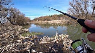 Щука На Спиннинг На Красивой Маленькой Речке Рыбалка