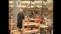 Steffi Spira am 4.11.1989 auf der Demonstration am Alexanderplatz