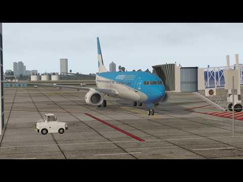 X-Plane 11   Buenos Aires (SABE) - Ushuaia (SAWH)   737-800 Aerolíneas Argentinas