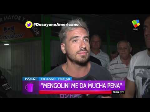 Julia Mengolini sobre Federico Bal: Si soy Laurita Fernández me cag.... de miedo