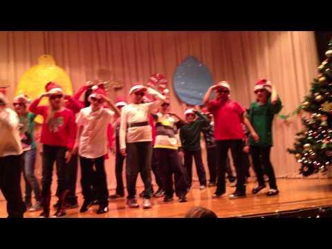 "Chicago, Il, Columbus Elementary School, 4th grade, ""Santa is the man"""