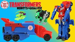 Transformers Robots in Disguise Optimus Prime helps Bumblebee's Team defeat the Decepticons!