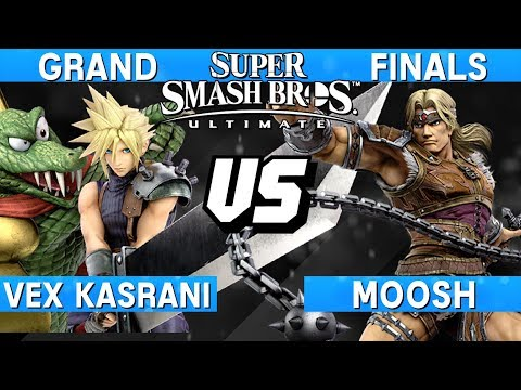Smash Ultimate Tournament Grand Finals - Vex Kasrani (Cloud / K. Rool) vs Moosh (Simon) - S@LT 181 thumbnail