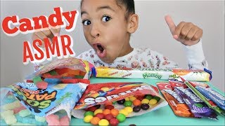 Candy ASMR | Loud crunchy chewy eating sounds