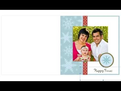 Free Photo Insert Christmas Cards - YouTube