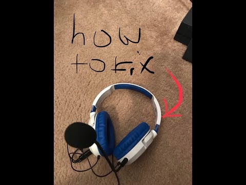 How to fix Turtle beach headphones when you can't talk but you can hear