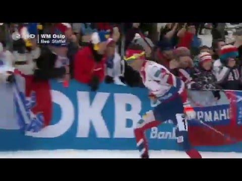 Männer 4x7,5 km Staffel Biathlon-WM Oslo 2016/ HD