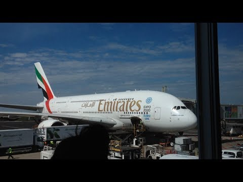 A380_800 Emirates EK148 from Amsterdam to Dubai economy class