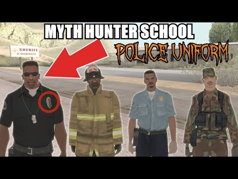 How to get POLICE UNIFORM in GTA San Andreas - Myth Hunter School #2