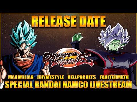 SSB VEGITO & ZAMASU RELEASE DATE + BANDAI NAMCO GIVEAWAY LIVESTREAM : Dragon Ball FighterZ