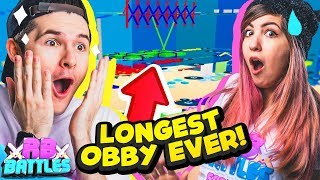 CONQUER THE LONGEST OBBY IN ROBLOX FOR ROBUX! (Roblox Battles)