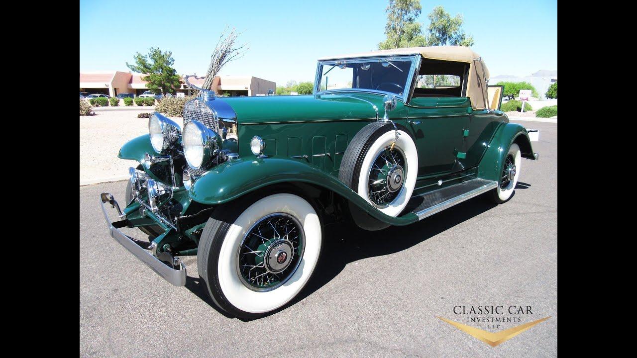 classic car investments 1931 cadillac v 12 convertible. Black Bedroom Furniture Sets. Home Design Ideas
