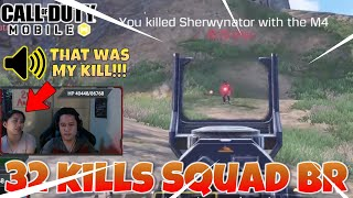 32 Kills in Squad BR   COD Mobile Battle Royale Gameplay