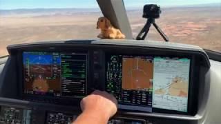 Cirrus Vision Jet flying to Utah-Canyon Lands Moab Desert -