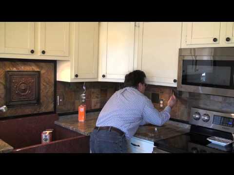 Sealing Slate Backsplash Tile with an Enhancing Sealer - Sealing Slate Backsplash Tile With An Enhancing Sealer - YouTube