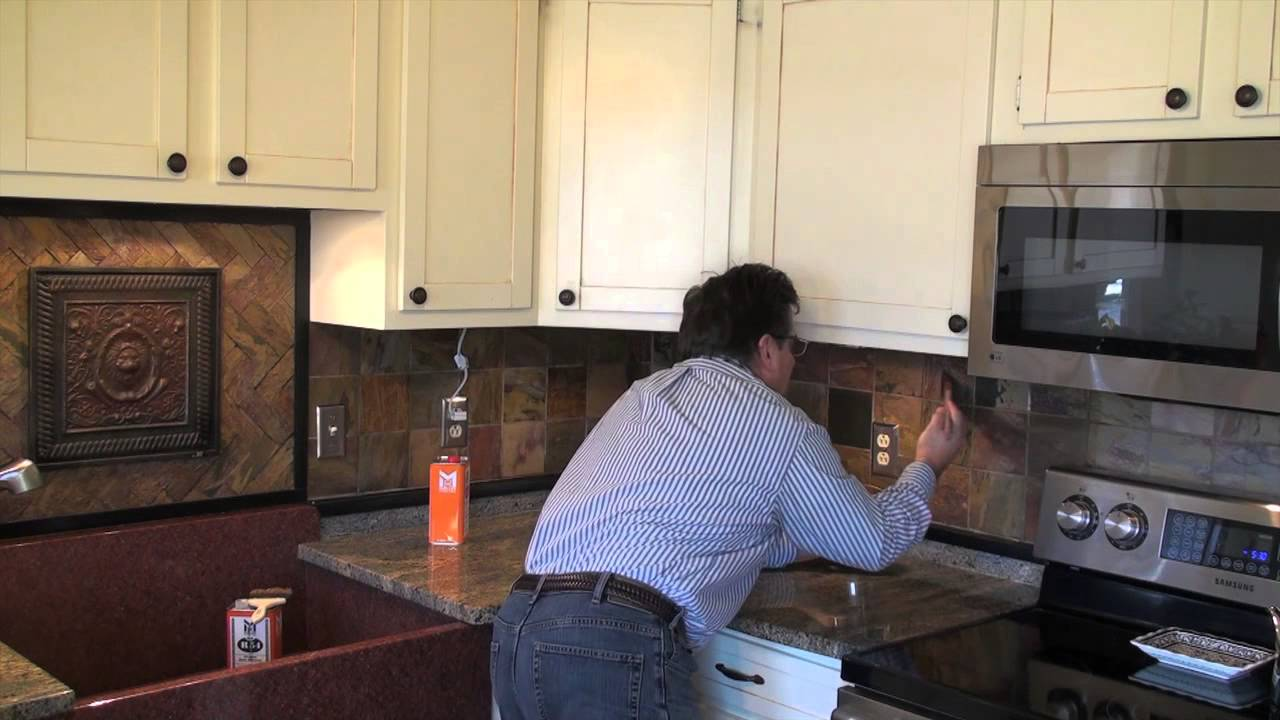 Charmant Sealing Slate Backsplash Tile With An Enhancing Sealer