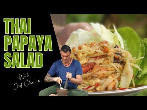 Thai Food Green Papaya Salad Som Tum ❤️️