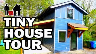 TINY HOUSE TOUR & BLOOPERS! - Man Vs House #9