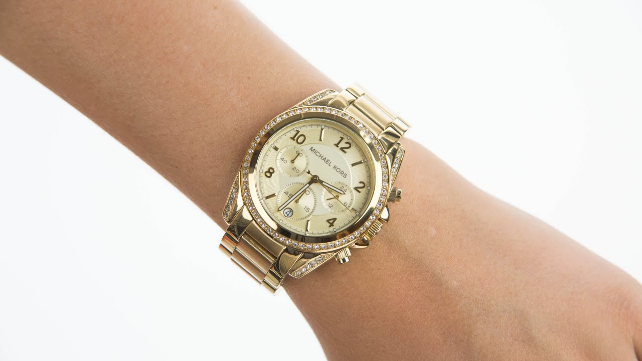 Michael Kors Ladies Gold Tone Steel Bracelet Watch MK5166