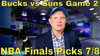 Free NBA Picks and Predictions | Milwaukee Bucks vs Phoenix Suns Game 2 Betting Preview | July 8