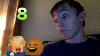 Reaction to Annoying Orange Donald Trunk || NEW RULES