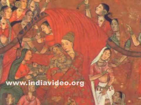 Shaji is united with his beloved Mahji painting copied from the Pem-nem of Hams