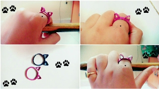 DIY Paper Quilling Cat Ring