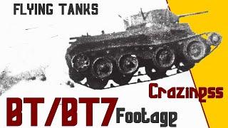 BT5 and BT7 Craziness!! Jumping Tanks WW2 Footage. БТ-7 - советский колёсно-гусеничный танк