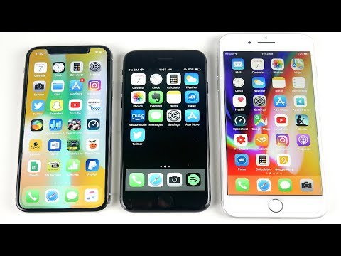iPhone X vs iPhone 8 Side by Side Comparison