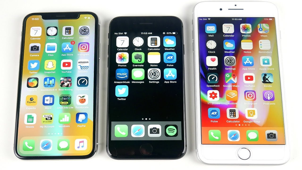 IPhone X Vs 8 Side By Comparison