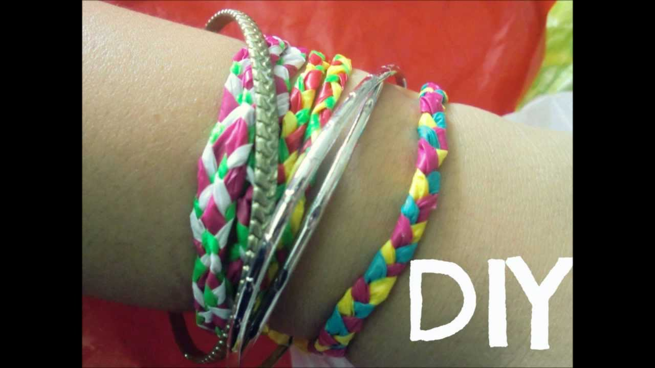 DIY Howto Plastic Bags into Friendship Bracelets