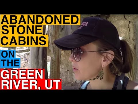 Hiking to Some Historic Abandoned Stone Cabins on the Green River in Utah