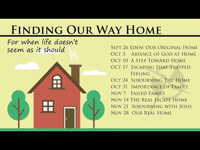 Finding our way Home Episode 1. Eden and Exile