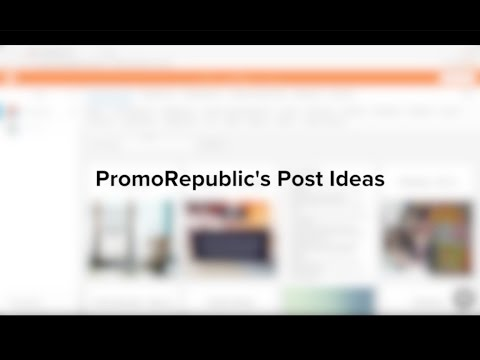 PromoRepublic's Post Ideas