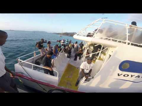 Boarding Osprey Shuttle Ferry from Carriacou Island to Grenada Island