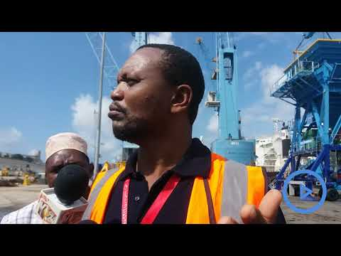 Kenya Ports Authority officials speak about the new cargo equipment