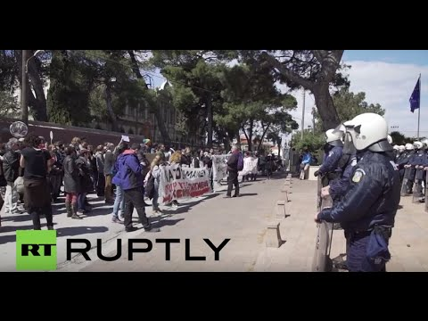 Greece: Protesters rally against EU-Turkey refugee deal in Lesbos