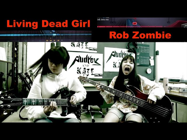 #Rocksmith - Living Dead Girl - Rob Zombie - cover guitar + lefty bass #ロブゾンビ