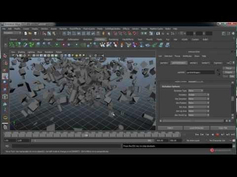 Tutorial 3D Maya 090 Dinamicas Particulas Expresiones introduccion